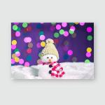 Snowman Puppet Merry Christmas Poster, Pillow Case, Tumbler, Sticker, Ornament