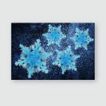 Snowflake Vivid Neon Colors Christmas Winter Poster, Pillow Case, Tumbler, Sticker, Ornament