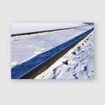 Snowbound Railway Poster, Pillow Case, Tumbler, Sticker, Ornament