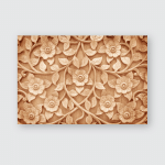 Pattern Flower Carved On Wood Background Poster, Pillow Case, Tumbler, Sticker, Ornament