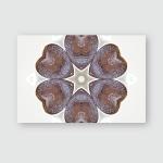 Brown Turkish Coffee Heart Shape Mandala Poster, Pillow Case, Tumbler, Sticker, Ornament