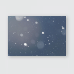 Snowy Landscape Lightly Blurred Snowflakes Beautiful Poster, Pillow Case, Tumbler, Sticker, Ornament