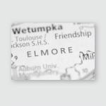 Elmore Alabama Usa Poster, Pillow Case, Tumbler, Sticker, Ornament