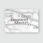 Elmstead Market United Kingdom On Geography Poster, Pillow Case, Tumbler, Sticker, Ornament