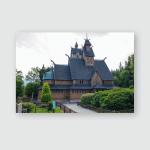 Karpacz Poland Wang Temple General View Poster, Pillow Case, Tumbler, Sticker, Ornament