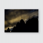 Karakoram Range Pakistan Mountains K2 Poster, Pillow Case, Tumbler, Sticker, Ornament