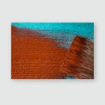 Brush Paint Hand Man Paints Blue Poster, Pillow Case, Tumbler, Sticker, Ornament