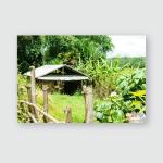 Peasant Hut Laos Province Xieng Khouang Poster, Pillow Case, Tumbler, Sticker, Ornament