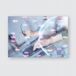 Woman Hands Writing Information About Stock Poster, Pillow Case, Tumbler, Sticker, Ornament