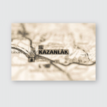 Kazanlak On Map Poster, Pillow Case, Tumbler, Sticker, Ornament