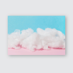 Soft Cotton Wool Cloud On Pink Poster, Pillow Case, Tumbler, Sticker, Ornament