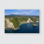 Kelingking Beach T Rex Shaped Cliff Poster, Pillow Case, Tumbler, Sticker, Ornament
