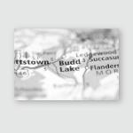 Budd Lake New Jersey Usa Poster, Pillow Case, Tumbler, Sticker, Ornament