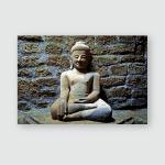 Buddha Image Koethaung Temple Mrauk U Poster, Pillow Case, Tumbler, Sticker, Ornament