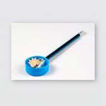 Pencil Sharpener Shavings On White Paper Poster, Pillow Case, Tumbler, Sticker, Ornament