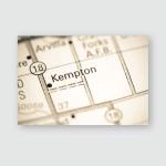 Kempton North Dakota Usa On Map Poster, Pillow Case, Tumbler, Sticker, Ornament