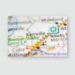Kerrville Tennessee Usa Poster, Pillow Case, Tumbler, Sticker, Ornament