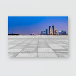 Empty Marble Floor City Suzhou Poster, Pillow Case, Tumbler, Sticker, Ornament