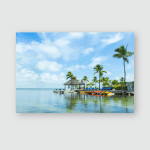 Key Largo Florida Usa Beautiful Landscape Poster, Pillow Case, Tumbler, Sticker, Ornament