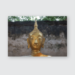 Buddha Statue Within Old Church Hundreds Poster, Pillow Case, Tumbler, Sticker, Ornament