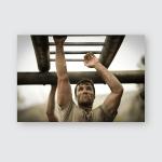Soldier Climbing Monkey Bars Boot Camp Poster, Pillow Case, Tumbler, Sticker, Ornament