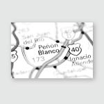 Penon Blanco Mexico On Map Poster, Pillow Case, Tumbler, Sticker, Ornament