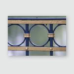 Solid Metal Balustrade Keeps Pedestrians On Poster, Pillow Case, Tumbler, Sticker, Ornament