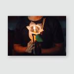 Buddhist Praying Incense Sticks Lotus Flower Poster, Pillow Case, Tumbler, Sticker, Ornament