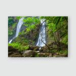 Khlong Lan Waterfall Beautiful Deep Forest Poster, Pillow Case, Tumbler, Sticker, Ornament