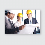 People Helmets On Construction Site Poster, Pillow Case, Tumbler, Sticker, Ornament