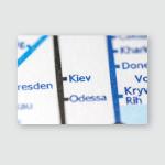 Kiev Ukraine On Geographical Map Poster, Pillow Case, Tumbler, Sticker, Ornament