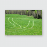 Some Tractors Traces Field Poster, Pillow Case, Tumbler, Sticker, Ornament