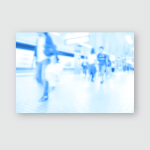 People Traveling Train Station Blurred Motion Poster, Pillow Case, Tumbler, Sticker, Ornament