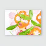 Pepperoni Pizza Flying Ingredients Vegetables Salami Poster, Pillow Case, Tumbler, Sticker, Ornament