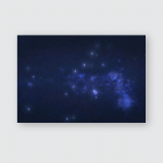 Perseus Constellation Outer Space Stars On Poster, Pillow Case, Tumbler, Sticker, Ornament