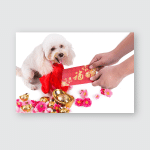 Person Giving Red Envelop Good Luck Poster, Pillow Case, Tumbler, Sticker, Ornament