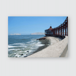 Peru Lima Beach View Southern Part Poster, Pillow Case, Tumbler, Sticker, Ornament