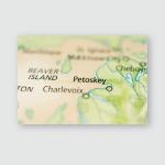 Petoskey Michigan Poster, Pillow Case, Tumbler, Sticker, Ornament