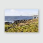 South Terceira Island Goat Islands Azores Poster, Pillow Case, Tumbler, Sticker, Ornament