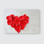 Petals Red Rose Flower Heart Shape Poster, Pillow Case, Tumbler, Sticker, Ornament