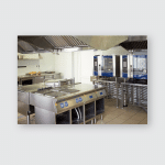 Kitchen Room Stoves Sinks Refrigerators Restaurant Poster, Pillow Case, Tumbler, Sticker, Ornament
