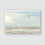 Kite Surfer Under Cloudy Sky Poster, Pillow Case, Tumbler, Sticker, Ornament