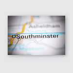 Southminster United Kingdom On Geography Map Poster, Pillow Case, Tumbler, Sticker, Ornament