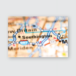 Southington Connecticut Usa On Geography Map Poster, Pillow Case, Tumbler, Sticker, Ornament