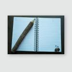 Wood Pencil Puts On Notebook Leelawadee Poster, Pillow Case, Tumbler, Sticker, Ornament