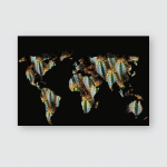 Space Planet Earth Conceptual Drawing Poster, Pillow Case, Tumbler, Sticker, Ornament