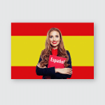 Spain Happy Student Girl Red Book Poster, Pillow Case, Tumbler, Sticker, Ornament