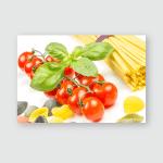 Spaghetti Tomatoes Basilon Old Vintage Wooden Poster, Pillow Case, Tumbler, Sticker, Ornament