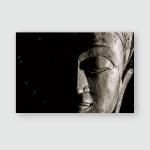 Spiritual Universe Buddha Night Sky Face Poster, Pillow Case, Tumbler, Sticker, Ornament