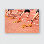 Sports Meeting Athlete Sprint Start Poster, Pillow Case, Tumbler, Sticker, Ornament